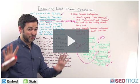 Discovering Local Citation Opportunities – SEOMoz Whiteboard Friday