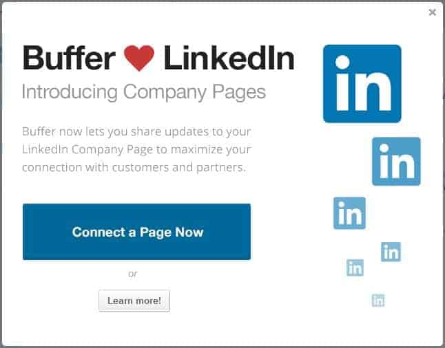 Post to LinkedIn Company Page with Buffer