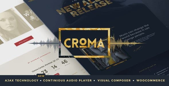 Croma WordPress Theme for Bands & Musicians
