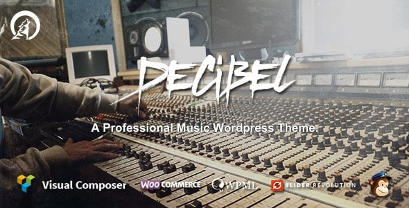 Decibel WordPress Theme for Bands & Musicians