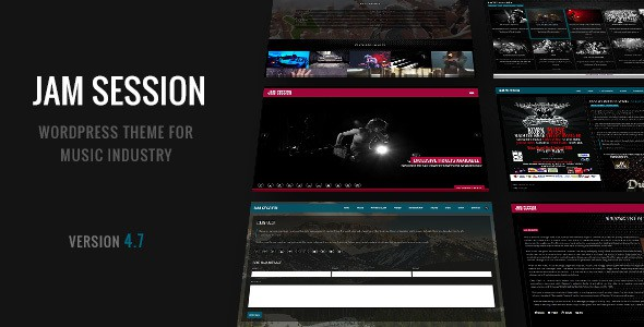 Jam Session WordPress Theme for Bands & Musicians