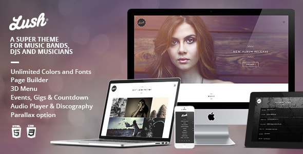 Lush WordPress Theme for Bands & Musicians