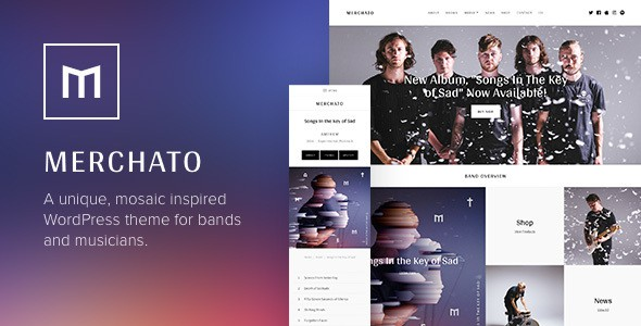 Merchato WordPress Theme for Bands & Musicians