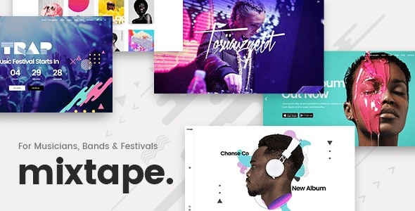 mixtape WordPress Theme for Bands & Musicians