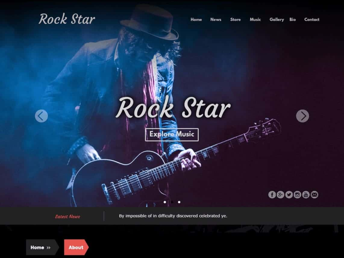 Rock Star WordPress Theme for Bands & Musicians