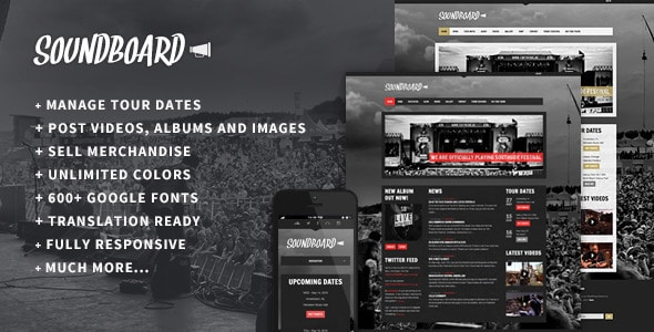 Soundboard WordPress Theme for Bands & Musicians