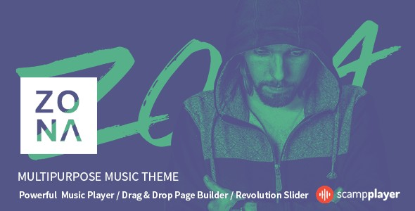 Zona WordPress Theme for Bands & Musicians