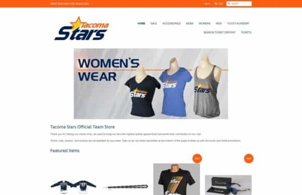 Tacoma Stars Shopify Ecommerce Website